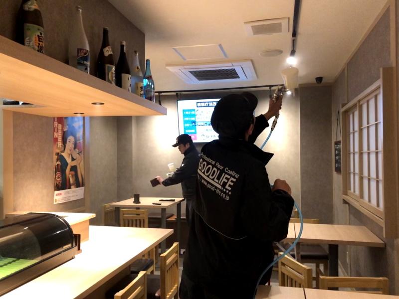 飲食店に光触媒コーティング